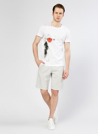 T-Box Baskılı Tişört Beyaz
